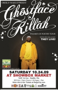 Ghostface Killah Showbox Flyer