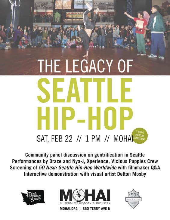 Legacy of Seattle Hip Hop flyer