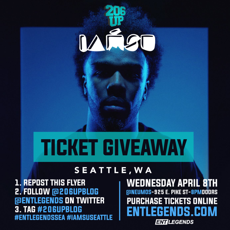 Iamsu Ticket Giveaway flyer